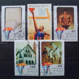 Зап.Сахара.1992г. Летние олимпийские игры.