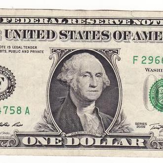 1 доллар США 2009 F, Джорджия Атланта FW