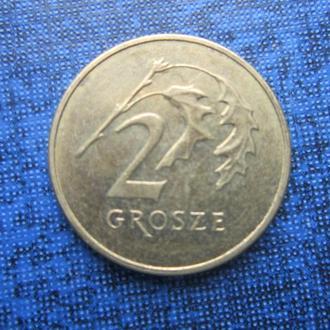 монета 2 гроша Польша 2011