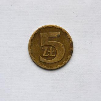 Польша - 5 злотых 1977