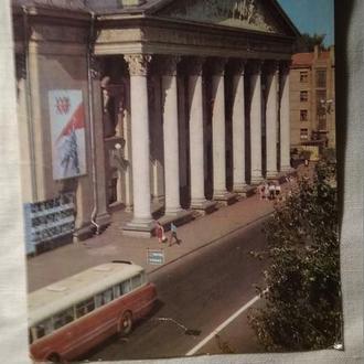 СССР  открытка, Запорожье театр Щорса  1973 г.