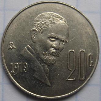 МЕКСИКА, 20 сентаво 1979 года.