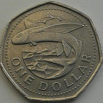 Барбадос 1 доллар 1988 год