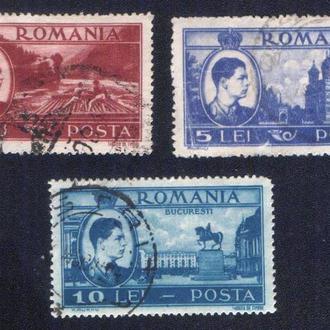 Румыния (1947) Король Михай Первый и виды страны