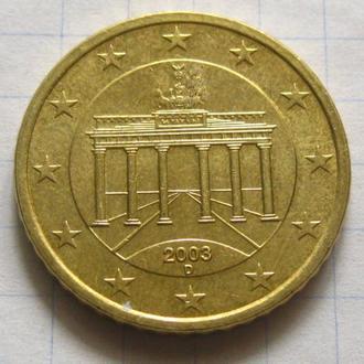 Германия_ 50 евро центов 2003 D оригинал