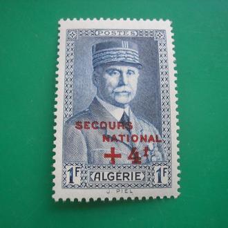 Алжир 1942 Президент Франции Петен MNH