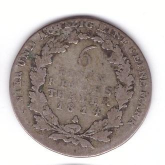 Пруссия 1/6 талера 1814 A Фридрих Вильгельм III