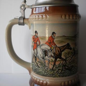 стара Англія полювання охота пивний кухоль для пива келих пивная кружка для пива натуральна кераміка