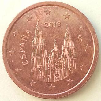 (А) Испания 2 евроцента евро цента 2013
