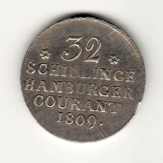 32 шилінга 1809 р, Гамбург