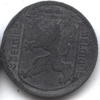 Бельгия Леопольд III 25 сант+1 франк 1944 2 монеты
