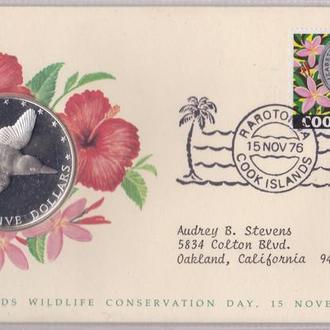 Кука острова 5 долларов 1976