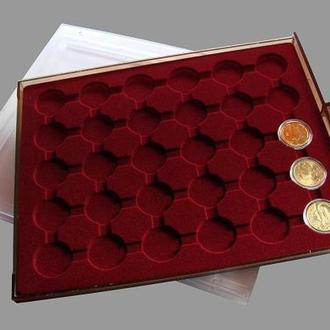 Бокс для монет  и др. Диаметр 32мм. Кількість місць - 30 монет.