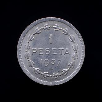 1 Песета 1937,(10) Испания