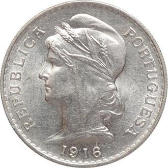 """Португалия 50 сентаво 1916 г., UNC, """"Португальская Республика (1911 - 1969)"""""""