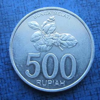 Монета 500 рупий Индонезия 2003 алюминий