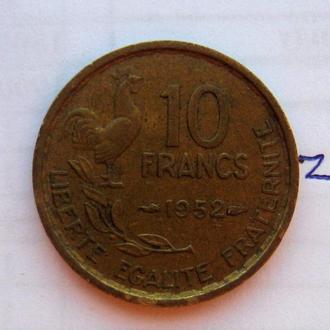 Франция, 10 франков 1952 года.