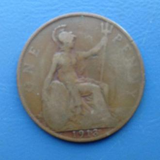 Великобритания, 1 пенни 1913 год