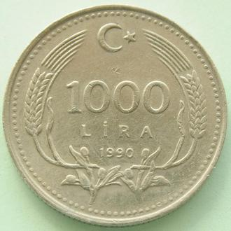 (А) Турция 1 000 лир 1990