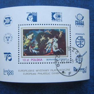 Блок Польша 1979 живопись гаш.
