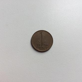 Нидерланды 1 цент 1969