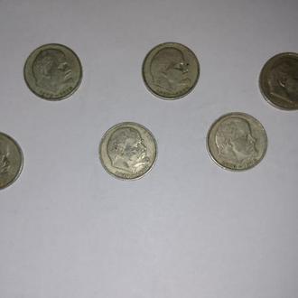 Продам лот 8  монет номиналом 1 рубль 1970 г.