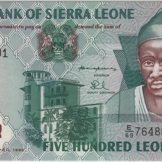 Сьерра-Леоне 500 Leones 1995 в UNC