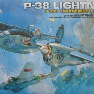 Сборная модель самолета P-38 Lightning J/L/Droopsnoot/F-5E 1:48 Academy 2215