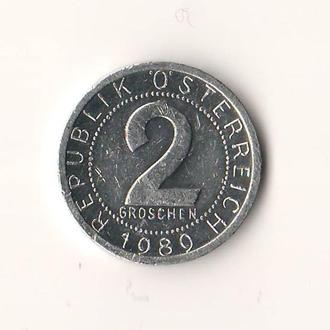 Австрия. 2 гроша, 1989