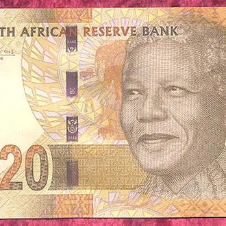 Боны Африка ЮАР 20 ранд 2012 г.