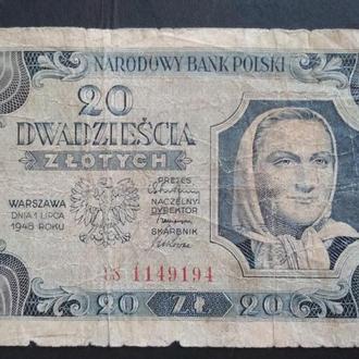DWADZIESCIA ZLOTYCH 1948 R.