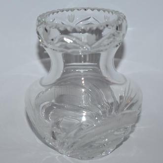 шикарная ваза хрусталь идеальное состояние винтаж