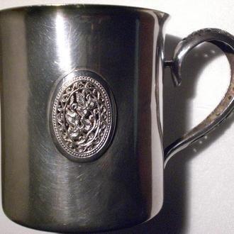 Кружка серебряная 105 г 925 пробы