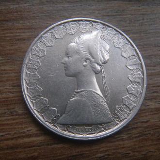 Италия 500 лир 1960 серебро (D3/3)