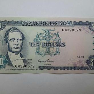 Ямайка. 10 долларов 1994 год. UNC.
