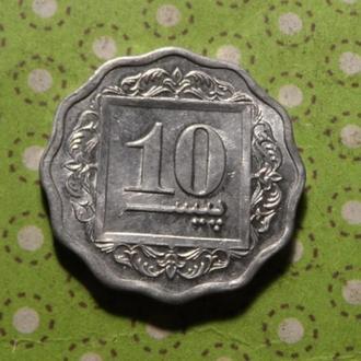 Пакистан 1988 год монета 10 пайс !