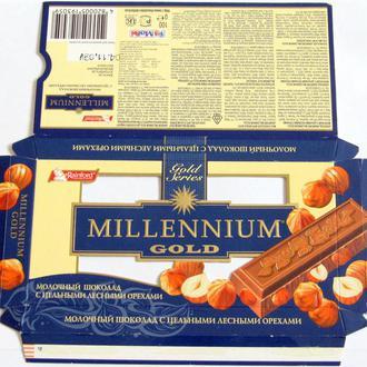 Обёртка от шоколада  Millenium gold 100 г 2010 год