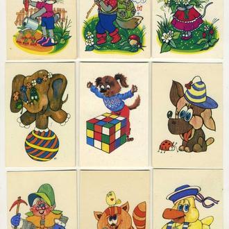 Карманные календарики Детские Мультфильмы 9 шт. (№2)