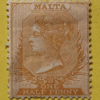 Марки Британских колоний. Мальта 1860 г.