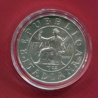Италия 1 лира 2000 UNC серебро (Монета 1922)