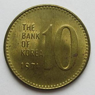 Корея Южная 10 вон 1971 (KM#6a)