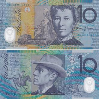 Australia Австралия - 10 Dollars 2008 UNC JavirNV