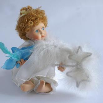 Фарфоровая кукла Ангелок на облачке #TC4983 1991 г. Ashton Drake США