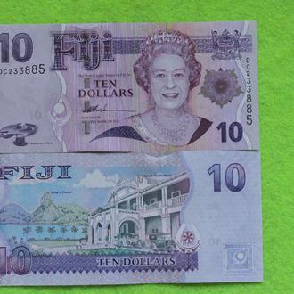 Фиджи 10 долларов 2007  UNС