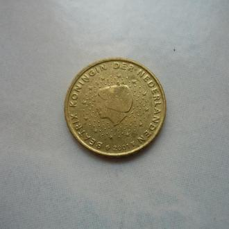 Нидерланды 10 евроцентов 2001