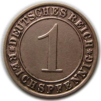 Германия 1 рейхспфенниг 1929 год (D)