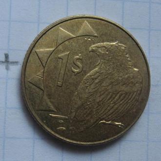 НАМИБИЯ 1 доллар 2010 года (ОРЕЛ).