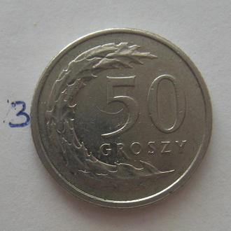 ПОЛЬША, 50 грошей 2014 г.