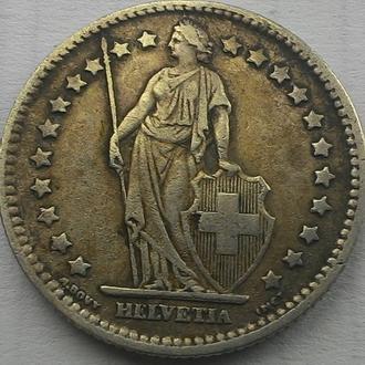 Швейцария 1 франк 1907 год серебро ОТЛИЧНОЕ СОСТОЯНИЕ!!!