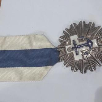 Медаль в серебре Peru за военно-морские заслуги, 925 проба серебро